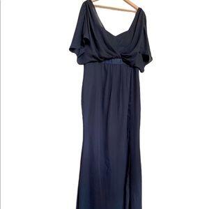 NWT BLUE ASOS MAXI FORMAL DRESS 12